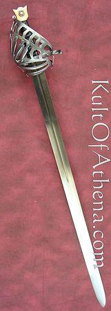 Del Tin Schiavona - Bronze Pommel with Black Leather Grip