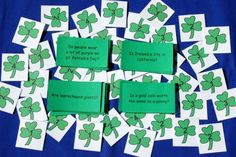 Speech Therapy Ideas: Yes/No Questions  Game for St. Patrick's Day. Pinned by SOS Inc. Resources. Follow all our boards at pinterest.com/sostherapy for therapy resources.