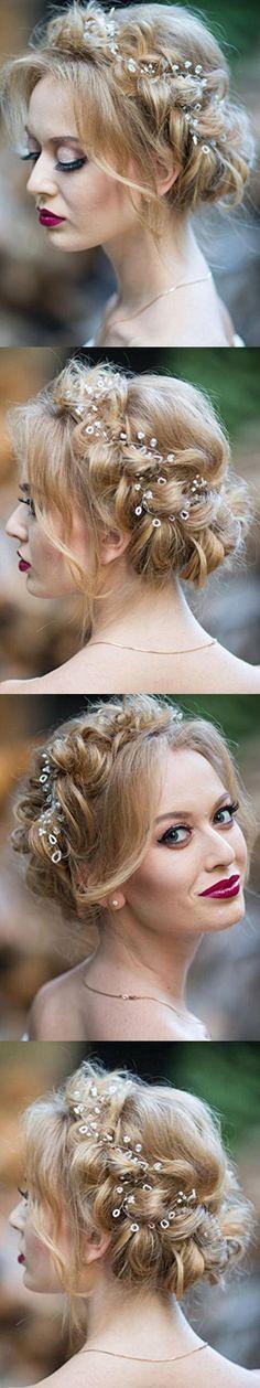 Missgrace Extra long hair vine Bridal hair vine Wedding hair accessorie