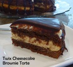 Twix Cheesecake Brownie Torte