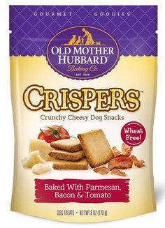 Old Mother Hubbard Crispers Natural Baked Parmesan Bacon Tomato Dog Treats 6z