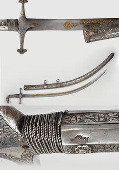 Ottoman dagger sword and armor & Osmanlı hançer kılıç ve zırhları & Osmanlının döneminde kullanılan kılıçlar kalkanlar hançerler ve zırh gibi harp aletleri & A Shamshir, Ottoman Empire, 19th century.