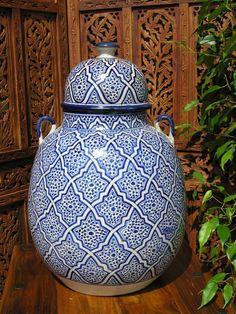 Large Fez antiqued vase in blue . http://www.maroque.co.uk/showitem.aspx?id=ENT05799&p=00741