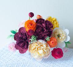 Sugar flowers by Lulu's Sweet Secrets - Wedding and Celebration Cakes in Birmingham, Alabama. #sugarranunculus #sugarpeonies
