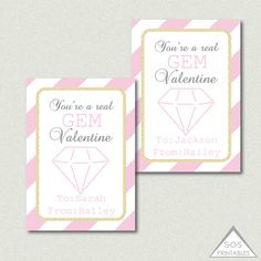 You're a real gem valentine!  #valentines #printablevalentines #kidsvalentines #etsy #diyvalentine