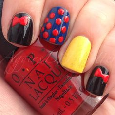 Snow White nails by Aggies Do It Better