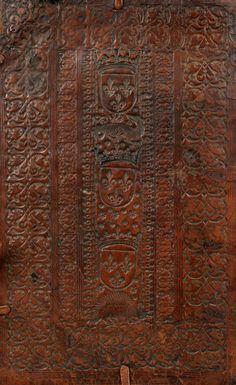 """Reliure veau brun de l'atelier parisien """"des reliures Louis XII"""". DATE 1514-1524."""