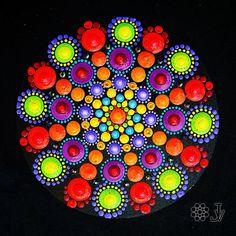 Mandala Dot Art Fridge Magnet, Home Boho Decor, Mandala Wall Art, Mandala Hand Painting : image 0 Stone Art Painting, Dot Art Painting, Mandala Painting, Mandala Canvas, Mandala Dots, Mandala Pattern, Mandala Design, Rock Painting Patterns, Rock Painting Designs