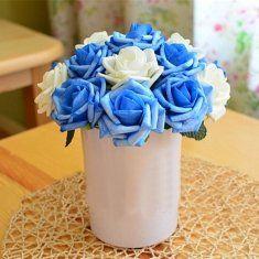 27 centímetros europa estilo minimalista artesanais flores artificiais decoração para casa simulação flores rosa