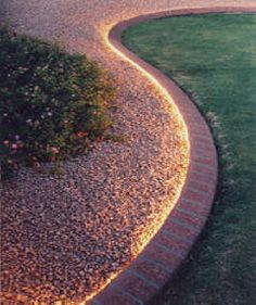 Lighting ideas for backyard flower beds