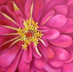 Pink Jolie, painting by artist Carol Keene