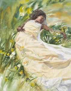 Watercolor artist MARY WHYTE is a teacher and author whose figurative paintings have earned national recognitio. Watercolor Artists, Watercolor Portraits, Watercolor Paintings, Watercolours, Illustrations, Art And Illustration, African American Art, American Artists, Black Artwork