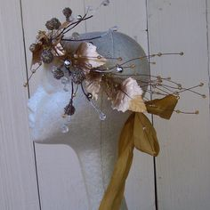 golden leaf fairy crown