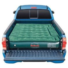 AirBedz Lite Truck mattress place on top of TruckVault and under camper topper for complete truck camping solution without the camper.
