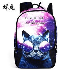 609d1bd52c7d Cute and handsome personality backpacks 3D Rucksacks Middle School Students  Boys and girls Leisure Bags.