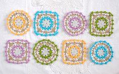 Lacy crochet coasters. free pattern