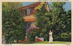 Janet Gaynor at Home, Hollywood, California