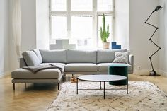 Isn't this just perfect?✨Our Lazy sofa has never looked this good! We couldn't be happier to start collaboration with amazing… Small Apartment Living, Small Apartments, Gray Sofa, Living Room Interior, Living Rooms, Furniture Projects, My Dream Home, New Homes, House Design