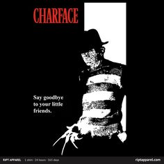 [Charface] by Mephias is being reviewed on www.ShirtRater.com!  #t-shirt #scarface #Freddy Kruger