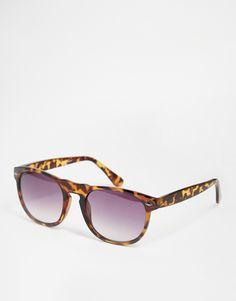 ASOS Round Sunglasses In Tortoiseshell