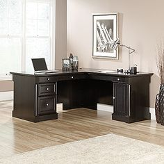 Shop a great selection of Sauder Bleeker Street L-Desk, Obsidian Oak finish. Find new offer and Similar products for Sauder Bleeker Street L-Desk, Obsidian Oak finish. Home Office Desks, Home Office Furniture, Furniture Ideas, Kitchen Furniture, Kitchen Dining, Basement Office, Business Furniture, Office Workspace, Rustic Furniture