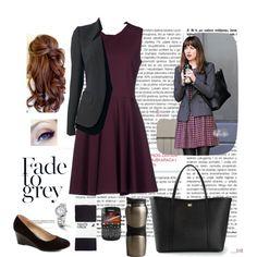 Anastasia Steele by jellymae on Polyvore featuring moda, Diane Von Furstenberg, Tom Ford, H&M, Dolce&Gabbana, Graham & Brown and Cost Plus World Market