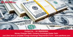You can exchange foreign money with Ask4Forex located in Vasant Kunj,they will give you a good rates as compare to other money exchangers in Delhi. Here are contact details for some of the best Money Exchangers in New Delhi: Ask4Forex, Vasant Kunj – Delhi – 110070 Contact – +91 9990562600 Money in India Pounds To Rupees Dollar To Rupees in Delhi, India Trnsffering Money To India