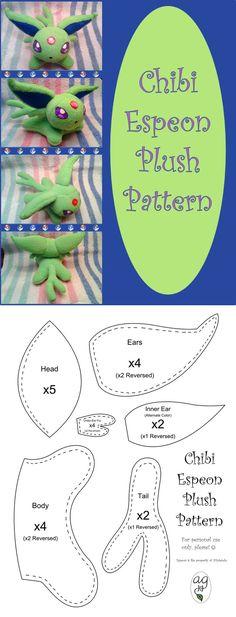 Chibi Espeon Plush Pattern by altaiira.deviantart.com on @DeviantArt