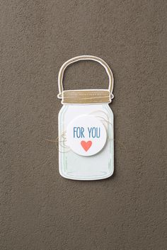 The Jar of Love bundle makes the most adorable little jar tags! #stampinup