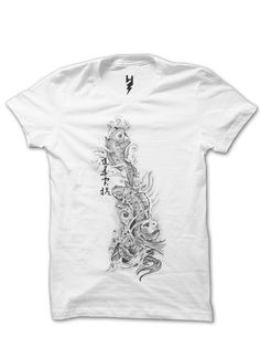 Koi Tattoo from XTEAS Created for the Launch of Tattoo Temple Studio in Mumbai. Get the Koi tattoo designed t-shirt today.  Printed on 100% Organic Cotton, XTEAS Premium T Shirt.