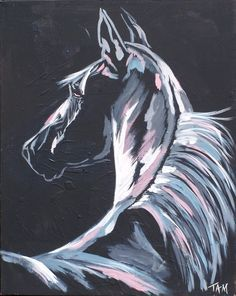 """Draw Horses Items similar to Nighttime Horse Painting - """"Moonlight"""" on Etsy - Original Horse Painting. x Ever alert, this horse searches the darkness to identify friend and foe in the moonlight. Horse Drawings, Animal Drawings, Arte Peculiar, Horse Art, Horse Horse, Blue Horse, Animal Paintings, Horse Paintings, Pastel Paintings"""