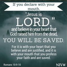 NIV Verse of the Day: Romans 10:9-10