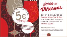 Join us the 13 and 14th December 2013 in Barcelona and try 20 different traditional wines before you buy what you like the most! Welcome to #wineloversBCN