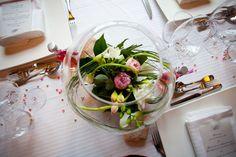 centre de table bocal mariage