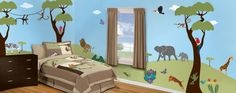 drawing on wall for baby boys room | ... wall art for kids or Mural-Give program, visit My Wonderful Walls