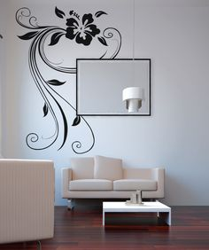 StickerBrand — Vinyl Wall Decal Sticker Hawaiian Flower Swirl #OS_AA373