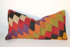 12x24 Kilim Pillow, Vintage Pillows, 30x60 cm
