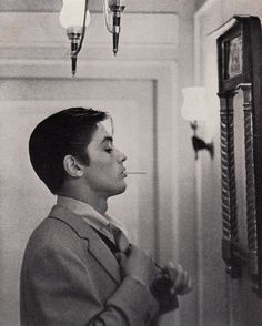 Alain Delon Japan mag. Huge in Japan after visit he was considered 'ideal' looking star.