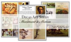 Degas Art Project: Depicting Movement & Motion. Free printable art study and art project instructions