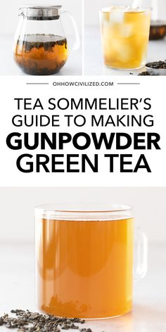 This simple gunpowder green tea from Oh How Civilized is a delicious green tea you can easily make at home! One of the oldest teas in the world, you've probably tried gunpowder tea without even realizing it. This robust green tea is great hot or cold. #greentea #icedtea #hottea #gunpodergreetearecipe Pearl Tea, Iced Tea Recipes, Tea Sandwiches, Brewing Tea, Summer Drinks, High Tea, Teas, Healthy Drinks, Afternoon Tea