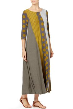 Alembika Jersey Panel Dress | Sahara