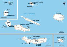 Carte Les Açores zoom - Plan Les Açores zoom