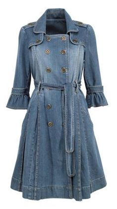 Demin Dress, Jean Skirt Outfits, Denim Outfit, Denim Fashion, Fashion Outfits, Denim Trench Coat, Blue Jean Dress, Mode Jeans, Beauty And Fashion