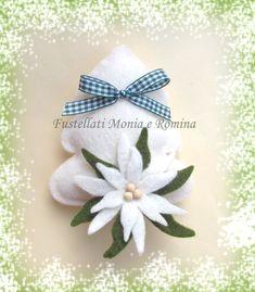 Albero natale fai da te pannolenci, stella alpina, decorazioni fustellati feltro facile fatto a mano, idee natalizie