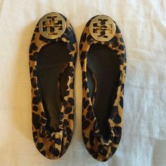 Tory Burch Leopard Reva Flat Leopard hair. No signs of wear. Excellent condition!! Tory Burch Shoes Flats & Loafers