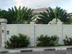 Concrete Block Or Precast Concrete Fence Walls For The