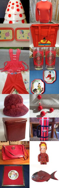 Seeing Red With TeamKitsch. by livingavntglife on Etsy--Pinned with TreasuryPin.com