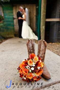 boots, flowers wedding