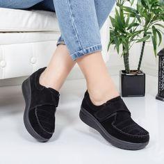 Pantofi Piele Vicaz negri Slip On, Sneakers, Casual, Shoes, Fashion, Tennis, Moda, Slippers, Zapatos