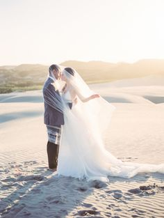 Photography : Tenth & Grace | Wedding Dress : Carol Hannah Read More on SMP: http://www.stylemepretty.com/2016/05/12/sand-dunes-wedding-inspiration/